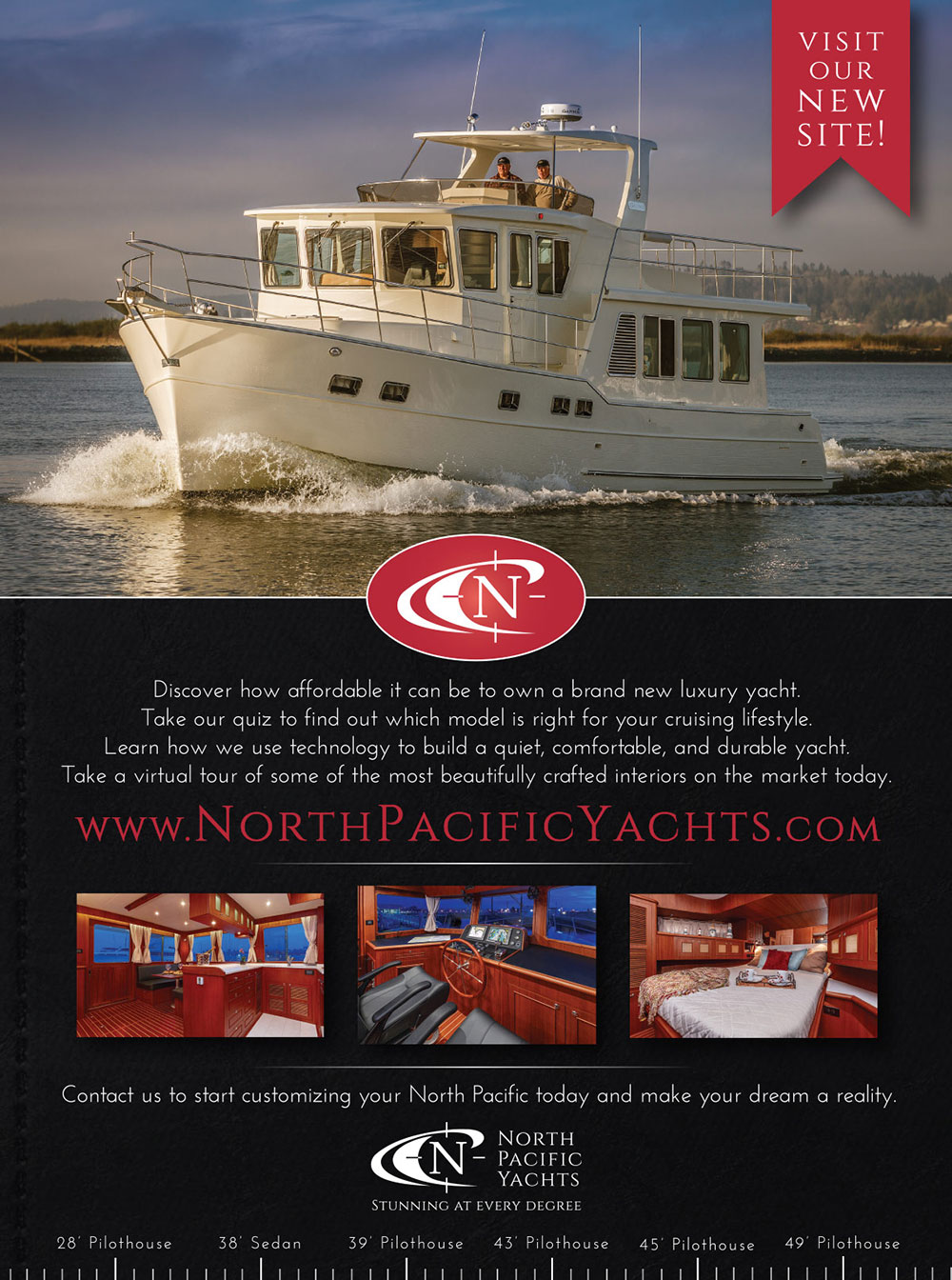 North Pacific Yachts Print Magazine Ad